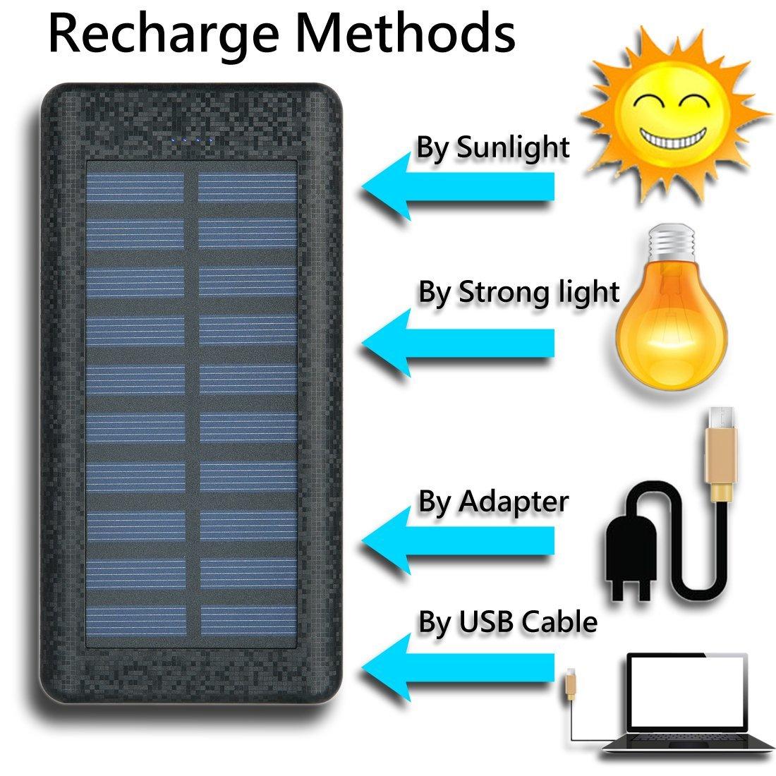 Solar Charger 24000mah Huaf Portable Battery Pack Phone 3 Casan 3usb Samsung Usb Ports1a 2a