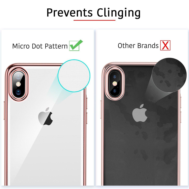 sale retailer 22d8a f12b6 ESR Crystal Clear Soft TPU iPhone X Case, Thin Fit Transparent ...