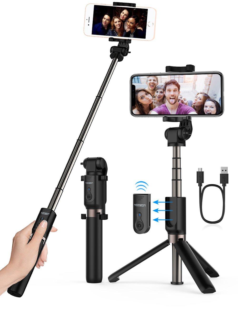 the best attitude 0a7c1 318fc Yoozon Selfie Stick Bluetooth, Extendable Selfie Stick with Wireless ...