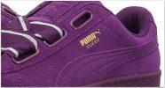 Purple Designer PUMA Women's Suede Heart Satin Wn Sneaker