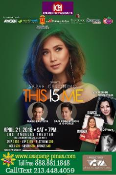 Sarah Geronimo This I5 Me U.S. Tour 2018 Los Angeles April 21, 2018